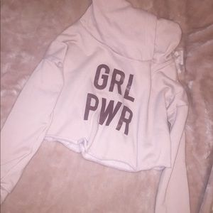 GRW PWR cropped hoodie